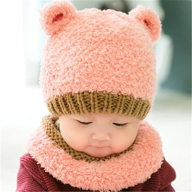 21c6a03da284c Orelhas de inverno chapéu do bebê do algodão da menina boy infantil para  recém-nascidos