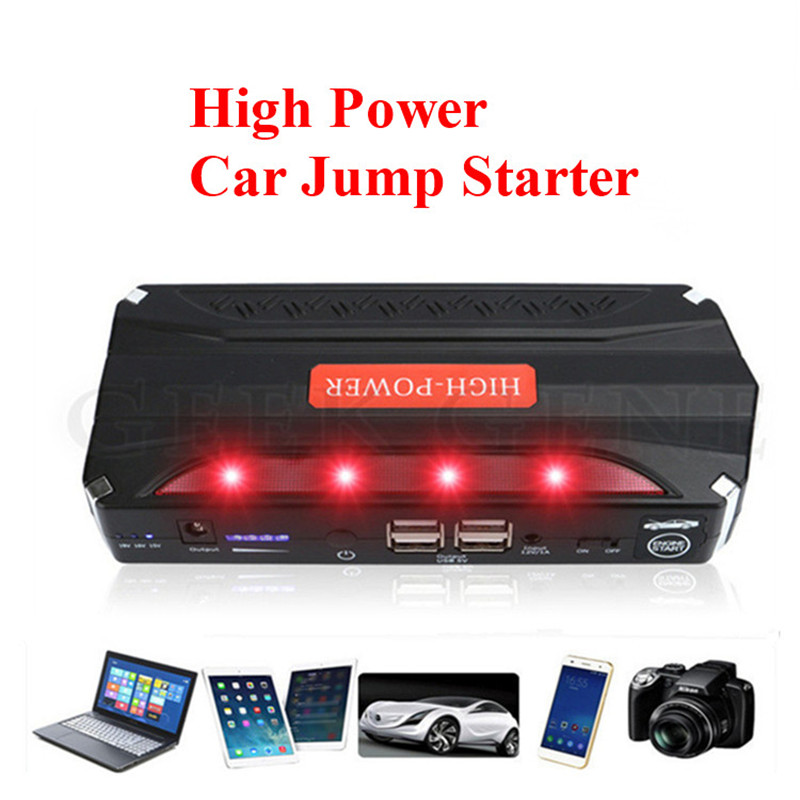 Portable 12V Multi fuction Emergency car battery Auto jump starter Power bank for phone Pad