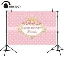 Allenjoy photographie décors couronne princesse rose fête danniversaire fleur cadre arrière plan nouveau photocall photobooth
