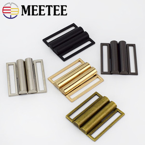 2/4pcs Meetee 40mm-60mm Metal Belt clasp Buckle hasp buttons for sewing Coat Down Jacket bags garment Decor Accessories F1-31(China)