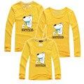 Moda Família Roupas Combinando Roupa Dos Miúdos T-Shirt de Algodão Olhar Família Pai E Mãe e Filha T-shirt de Manga Comprida