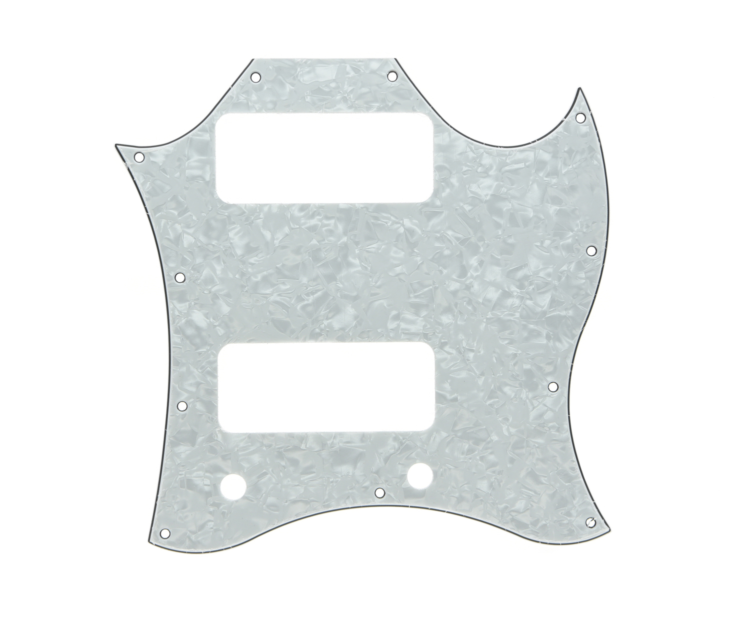 KAISH Standard SG Special Full Face Guitar Pickguard with P90 Pickup Hole White Pearl