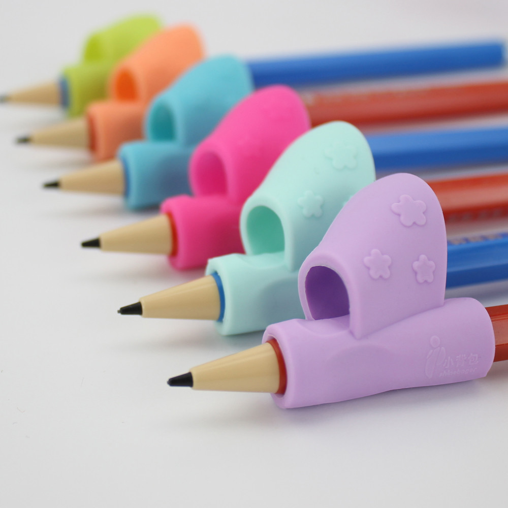 3PCS/Set Children Pencil Holder Pen Writing Aid Grip Posture Correction Tool random color u70821 correction