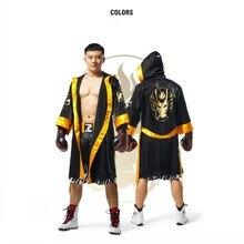 Золотой боксерский костюм для взрослых Чемпион боксер халат золотой пояс костюмы косплей игра бокс форма для матча карнавал Хэллоуин косплей