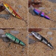 3 Segment Multicolor Fishing Wobblers Lifelike Swimbait 3D Fishing Tackle  free shipping