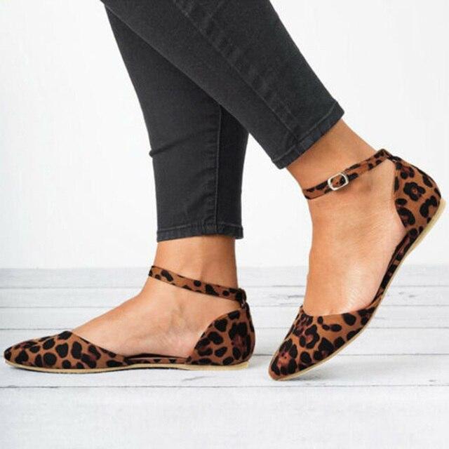 WENYUJH/Женская обувь на плоской подошве с леопардовым принтом, с острым носком, лоферы, балетки, повседневная обувь без шнуровки, женская обувь из флока на низком каблуке