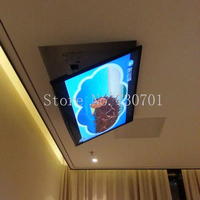 Eversion Motorized electric ceiling Led lcd tv lift mount hanger holder remote control function 110v 250v ,Fit for 32 70 TV Ma
