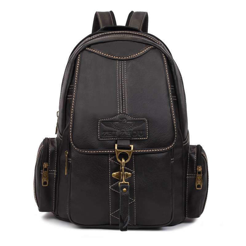 ФОТО Brand Designers Brown Woman Backpack Fashion PU Leather College Student School backpack Bags Vintage Ladies Rucksack