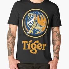 65959f58b56 Printed Men T Shirt Cotton O-Neck tshirts tiger beer Short-Sleeve Women T