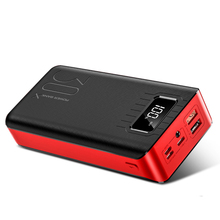 30000mah Power Bank External Battery Poverbank 2 Usb Lcd Powerbank Portable Mobile Phone Charger For Xiaomi Mi Iphone X
