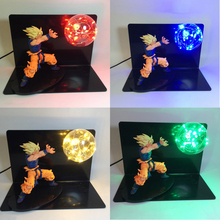 DIY Dragon Ball Son Goku Bulb Night Lamp Red Blue Green Lights Home Decorative Lighting Animal Modle Cartoon Toy Lamp 110V 220V