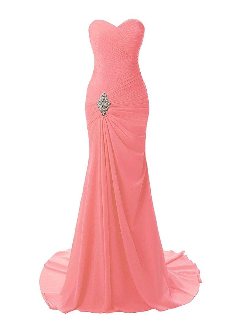 Gardlilac sirena vestido de noche largo con cristales gasa vestidos ...