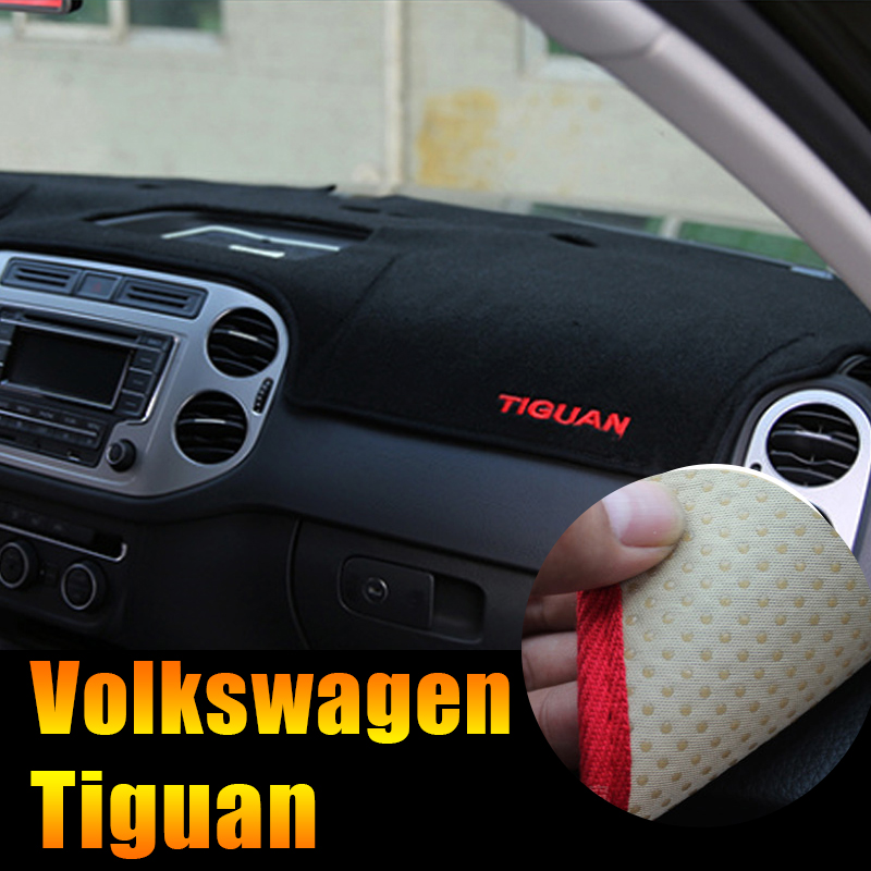 Car dashboard Mat Avoid Light Pad Instrument Platform Desk Cover Mats Carpets LHD For Volkswagen VW Tiguan 2009-2014 Accessories car rear trunk security shield cargo cover for volkswagen vw tiguan 2016 2017 2018 high qualit black beige auto accessories