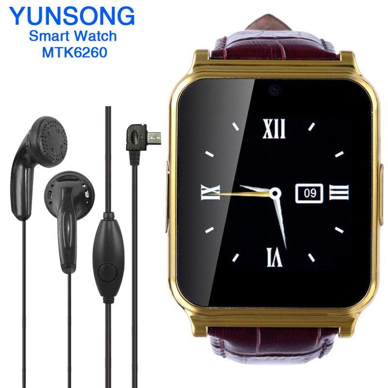 imágenes para W90 smart watch con cámara smartwatch podómetro rastreador de fitness sport reloj de pulsera para android dispositivos portátiles pk gt08 dz09 q18