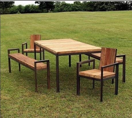 Paese americano in ferro battuto tavoli e sedie mobili da - Mobili da giardino in ferro ...