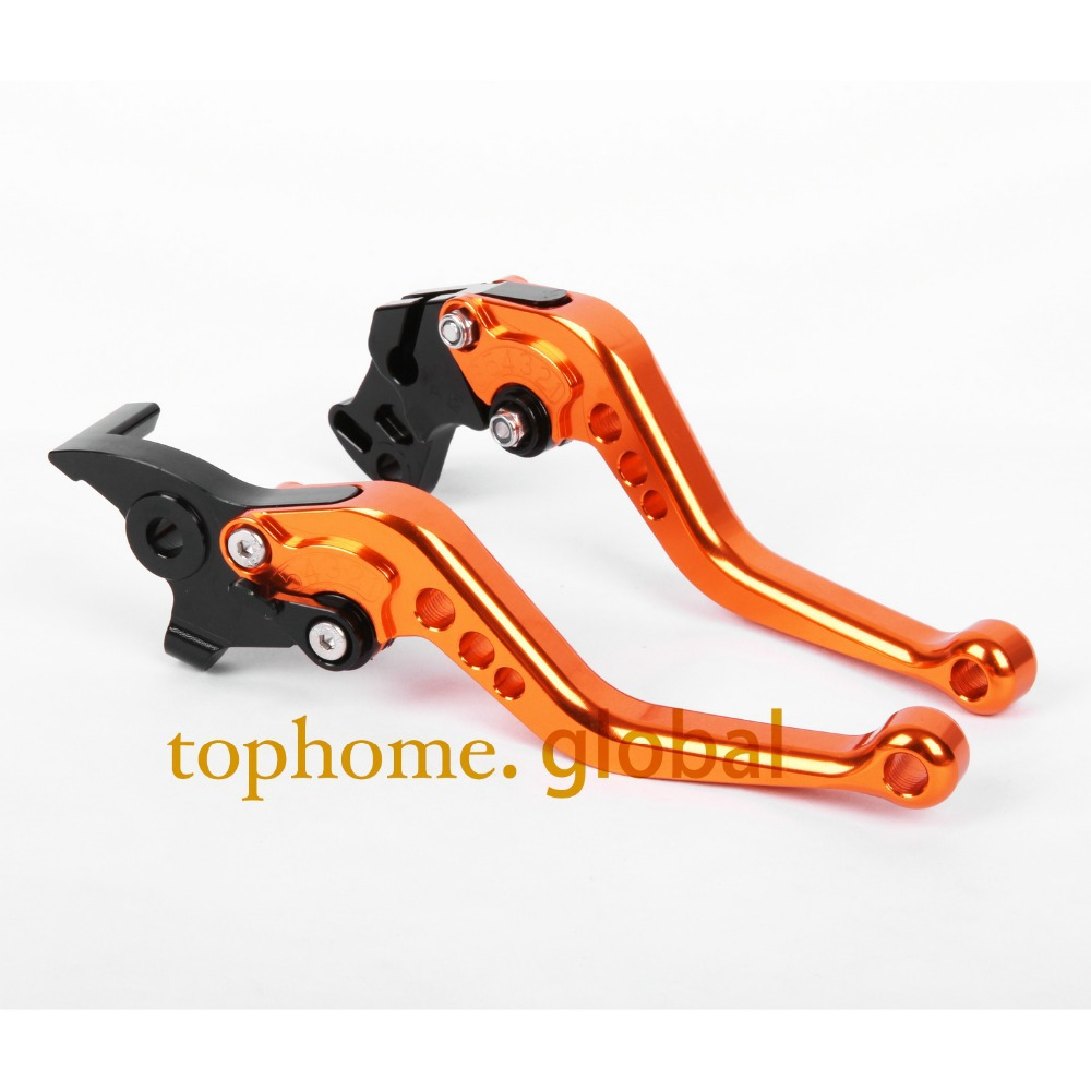 Motorcycle CNC Clutch Brake Levers For KTM 690 Enduro R 2014 Orange&Black Handlebar Short Size
