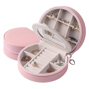 цена на 1pcs Jewelry Package Velvet PU Box Hot Selling High Quality Necklace/Earring/Ring Mirror Carring Case Display Wedding Gift