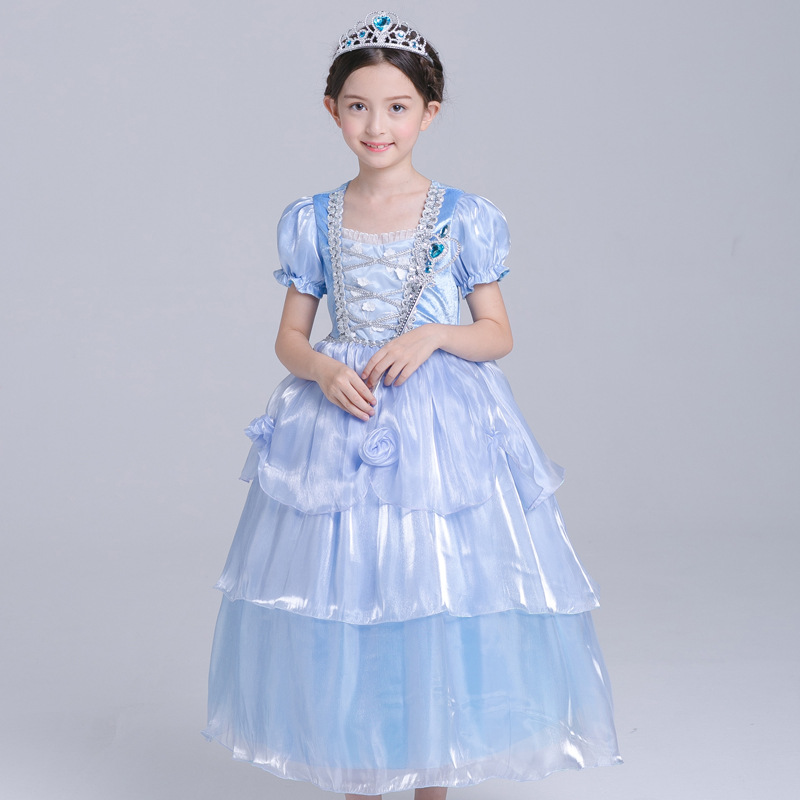 new foreign trade children's clothing girls dress Cinderella princess dress Christmas dance dress плед foreign trade 200 220cm