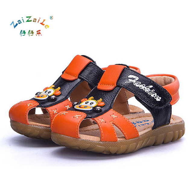 e2b8e66d7e16e7 Summer Cartoon Design Children Shoes Toddler Sandals Closed Toe Sandals  Kids Sandals For Girls Boys 4 Colour KS73