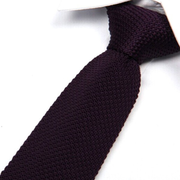 Men\'s Fashion Solid Tie Knit Knitted Tie Plain Necktie Narrow Slim Skinny Woven 2018