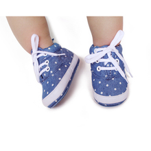 Fashion Canvas Cotton Lace-Up Shallow For Spring Autumn Baby Shoes First Walkers Handmade High Quality Boy 2016