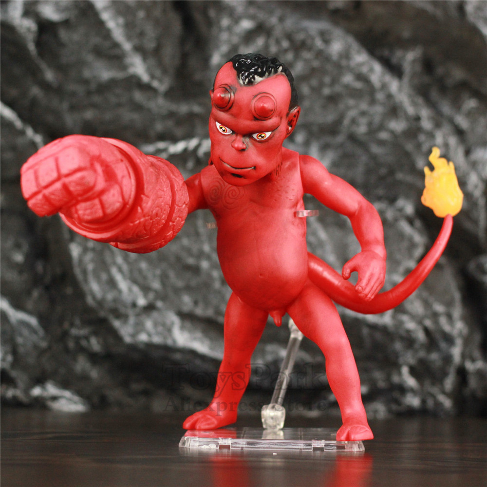 Hellboy 20CM Hellbaby PVC Action Figure 2004 Movie Hell Boy Baby KO's Mezco Dark Horse Comics Anung Un Rama Toys Doll image