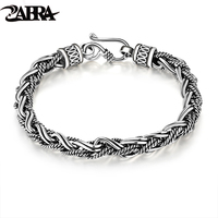 100 Of 925 Silver Thai Silver Restoring Ancient Ways Peace Lines Men S Bracelet Silver Bracelet