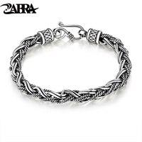 100 Of 925 Silver Thai Silver Restoring Ancient Ways Peace Lines Men S Bracelet Silver Bracelet