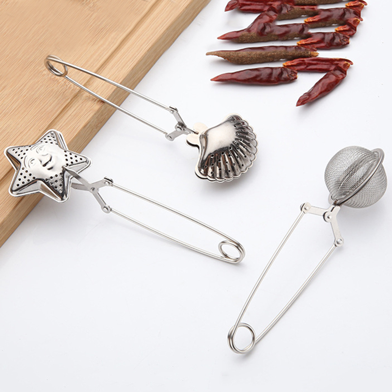 Stainless Steel Tea Infuser Loose Tea Leaf Strainer Herbal Spice Filter Diffuser Line Handle Tea Ball Bulk Kitchen Tea Filter