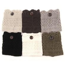 2015 Hot Sale Women Winter Leg Warmers Acrylon Wool Crochet Hollow Knit Boot Socks Toppers Cuffs