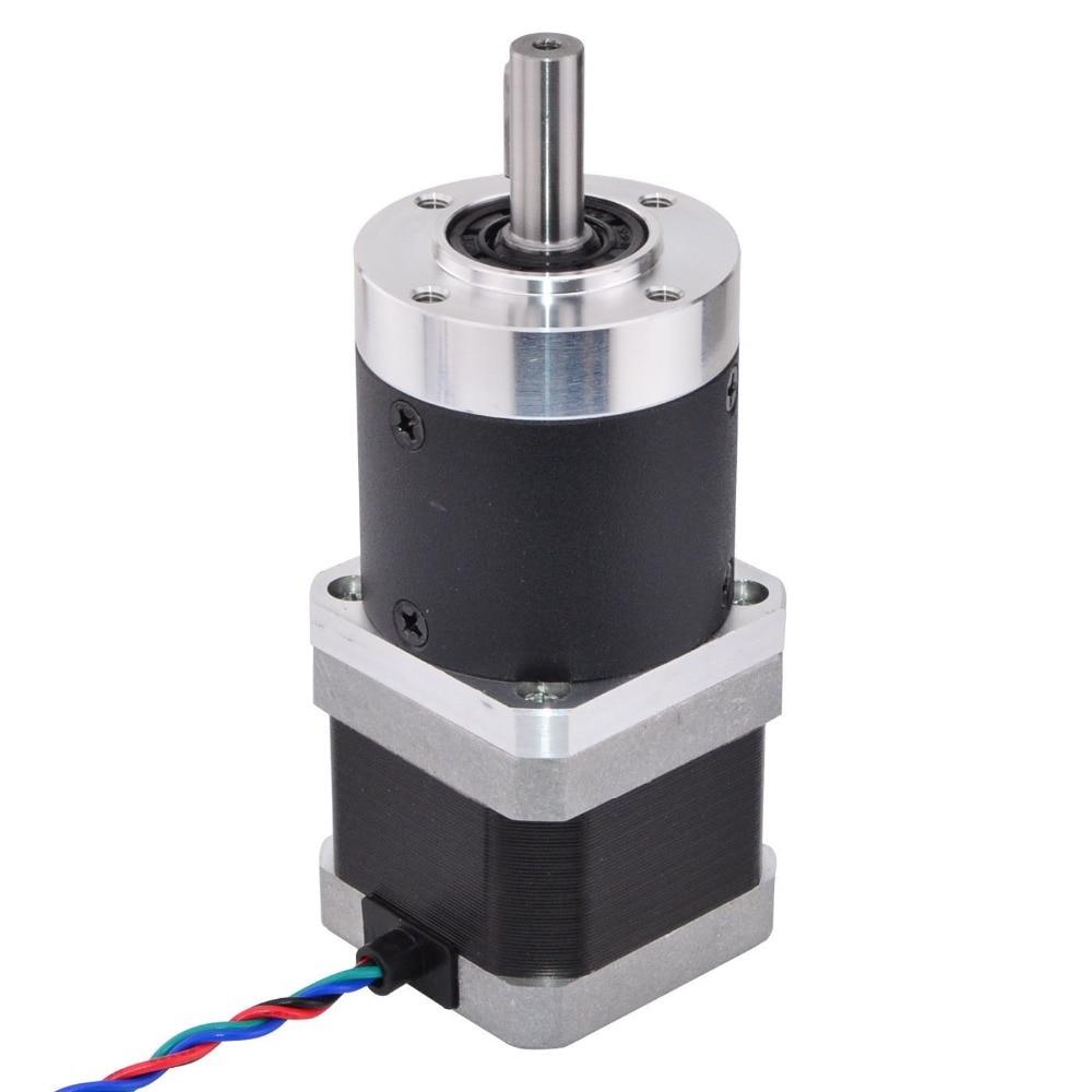 цена на 100:1 High Precision Planetary Gearbox Reducer Nema 17 Gear Stepper Motor L=39mm 1.68A for CNC 3D Printer