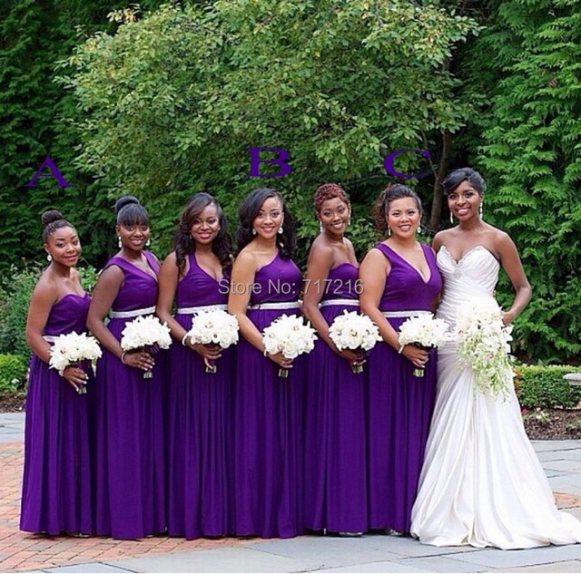 5e2323e9518 Cheap purple bridesmaid dresses! Sexy sweetheart backless sash gown custom  made graceful handmade A line chiffon bridesmaid gown