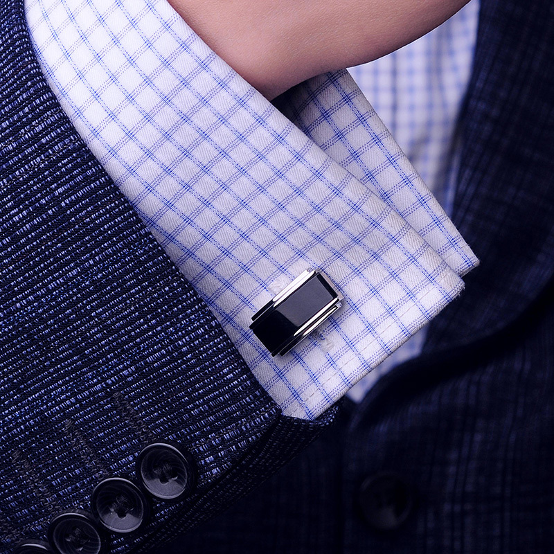 KFLK Luxury 2018 gemelos shirt cufflink for mens Gift Brand cuff buttons Black cuff link High Quality abotoaduras Jewelry