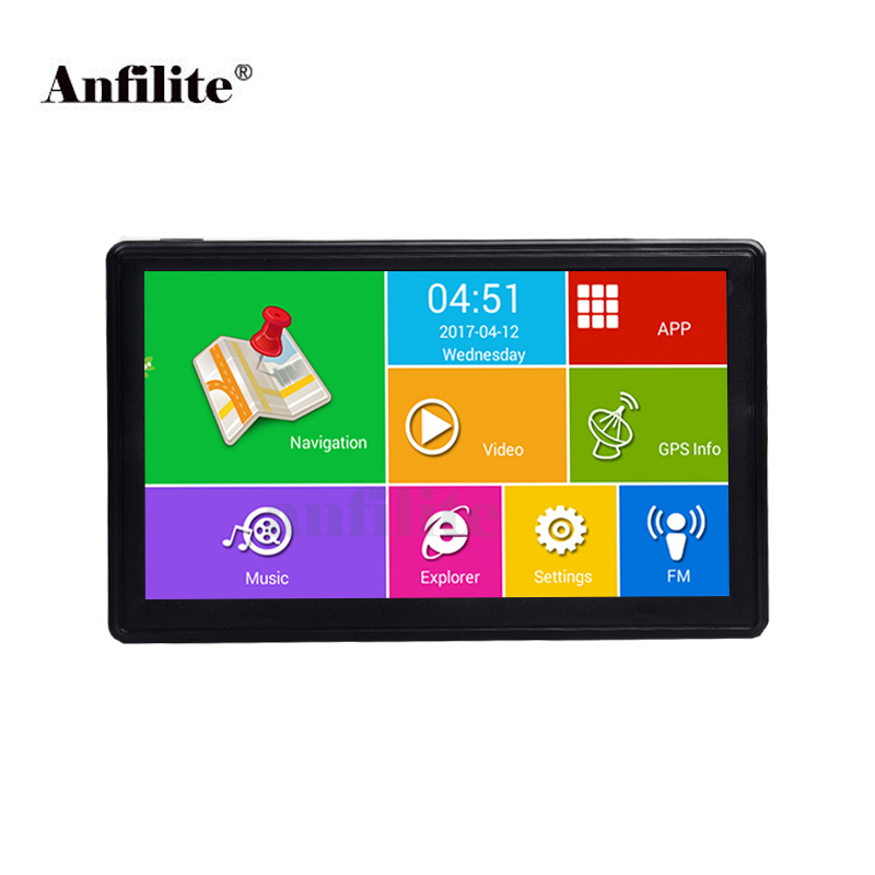 Anfilite 7 inch Capacitive truck GPS Navigation Android 4 4 2 WIFI 16GB DDR 512M Vehicle