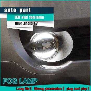 Car Styling Daytime Running Light for Nissan TIIDA LED Fog Light Auto Angel Eye Fog Lamp LED DRL High&Low Beam Fast Shipping
