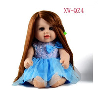 Sitting Posture 35cm Reborn Baby Doll Rapunzel Silicone Reborn Baby Doll Toys For Girls Birthday Gifts