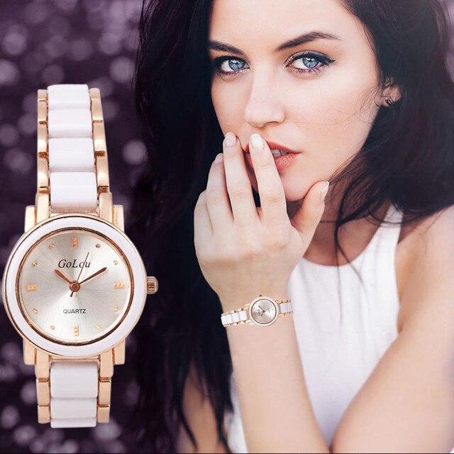 Luxury white&black Imitation Ceramic Bracelet Watches Women Ladies Dress Quartz