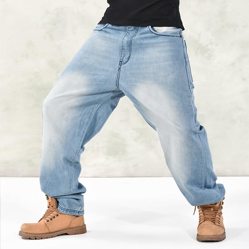 2016 New Arrival Large Size Men Jeans Hip Hop Pants Casual Fashion Street Dance Denim Jeans Men Slim Male Jeans Blue hot new large size jeans fashion loose jeans hip hop casual jeans wide leg jeans