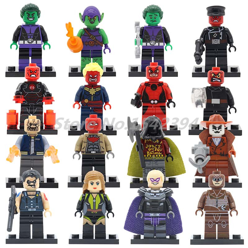 Super Heroes Villians Beast Boy Building Block Set Model Single Sale Green Goblin Rorschach Watchmen DIY Toys For Children Gifts single boy