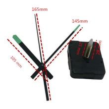 1 Набор 28 мм вал DIY зеленые стрелки флуоресцентный кварцевый механизм черные настенные часы аксессуары для ремонта