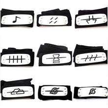 Uzumaki Naruto Cosplay Headband Leaf Village Black Blue Red Set For Pain Hatake Kakashi Gaara Headband arco de cabelo