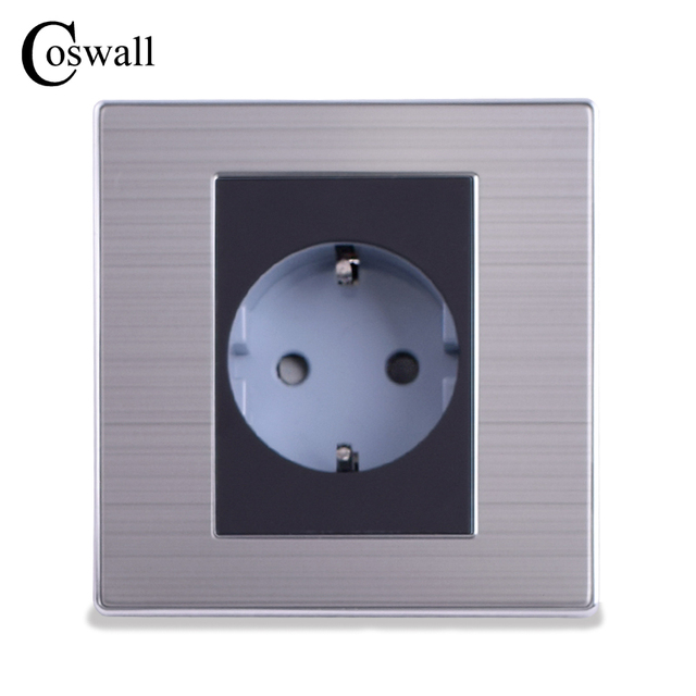 Coswall 16A EU Standard Wall Socket Luxury Power Outlet Enchufe ...