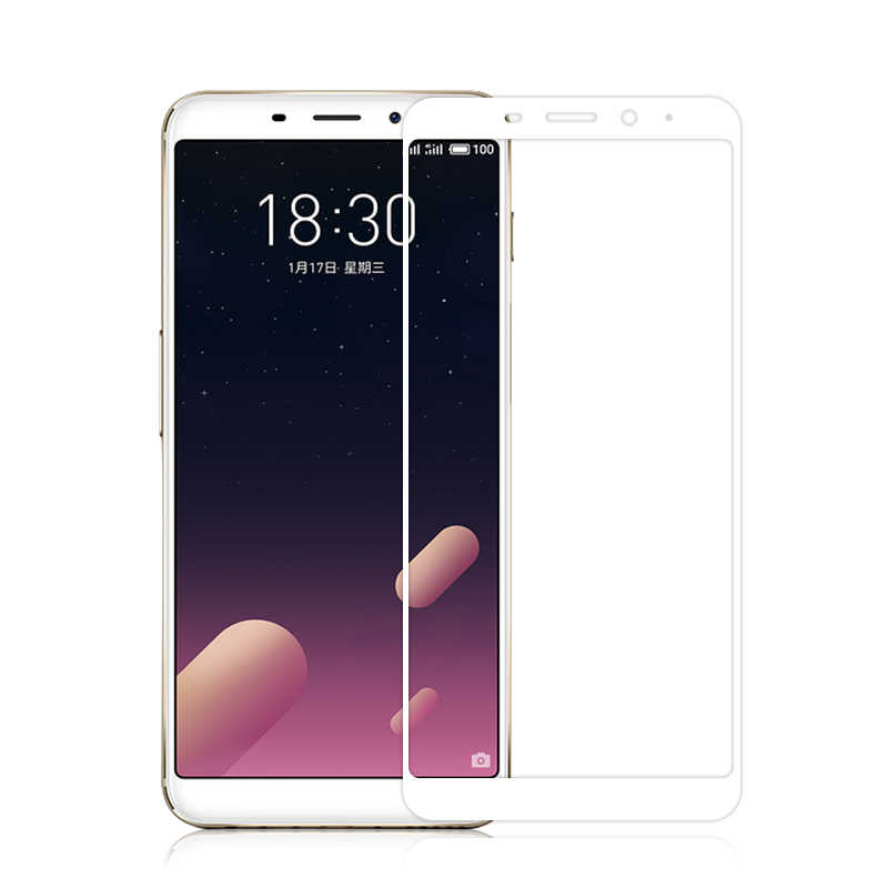 Full Cover Tempered Glass Screen Protector For Meizu M6S M5C M6 M5 M3 Note M5S M3S Pro 6 7 U10 U20 Anti Explosion Glass Film