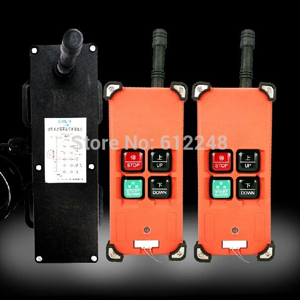 Micro electric hoist remote control 400KG 800KG wireless remote control2Transmitter 1Receiver control switch for hoist switch