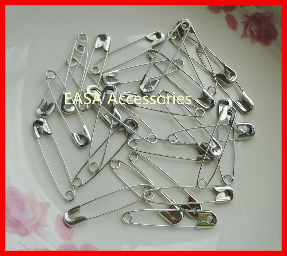 200PCS silver finish 3# size 4.6cm plain Metal Safety Pins for hanging tags hijab hairpins,metal badge pins