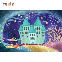 Mermaid Seabed Castle Baby Kids Children Birthday Party Photography Backdrop Custom Photographic Background For Photo Studio