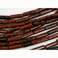 """Wholesale Natural Genuine Gold Mahogany Obsidian Tube Loose Beads Barrel Column Beads Fit Jewelry 15"""" 02709"""
