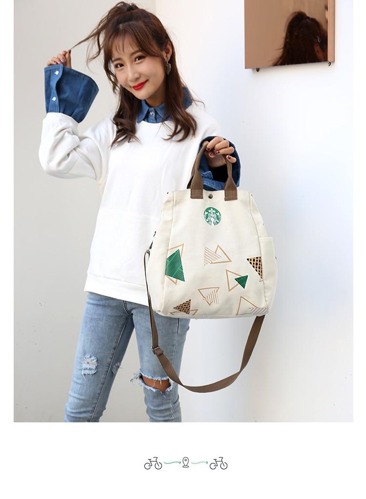 Anderi New Summer Women Canvas bohemian style strip Shoulder Beach Bag Female Casual Tote Shopping Big Bag floral Messenger Bags 44
