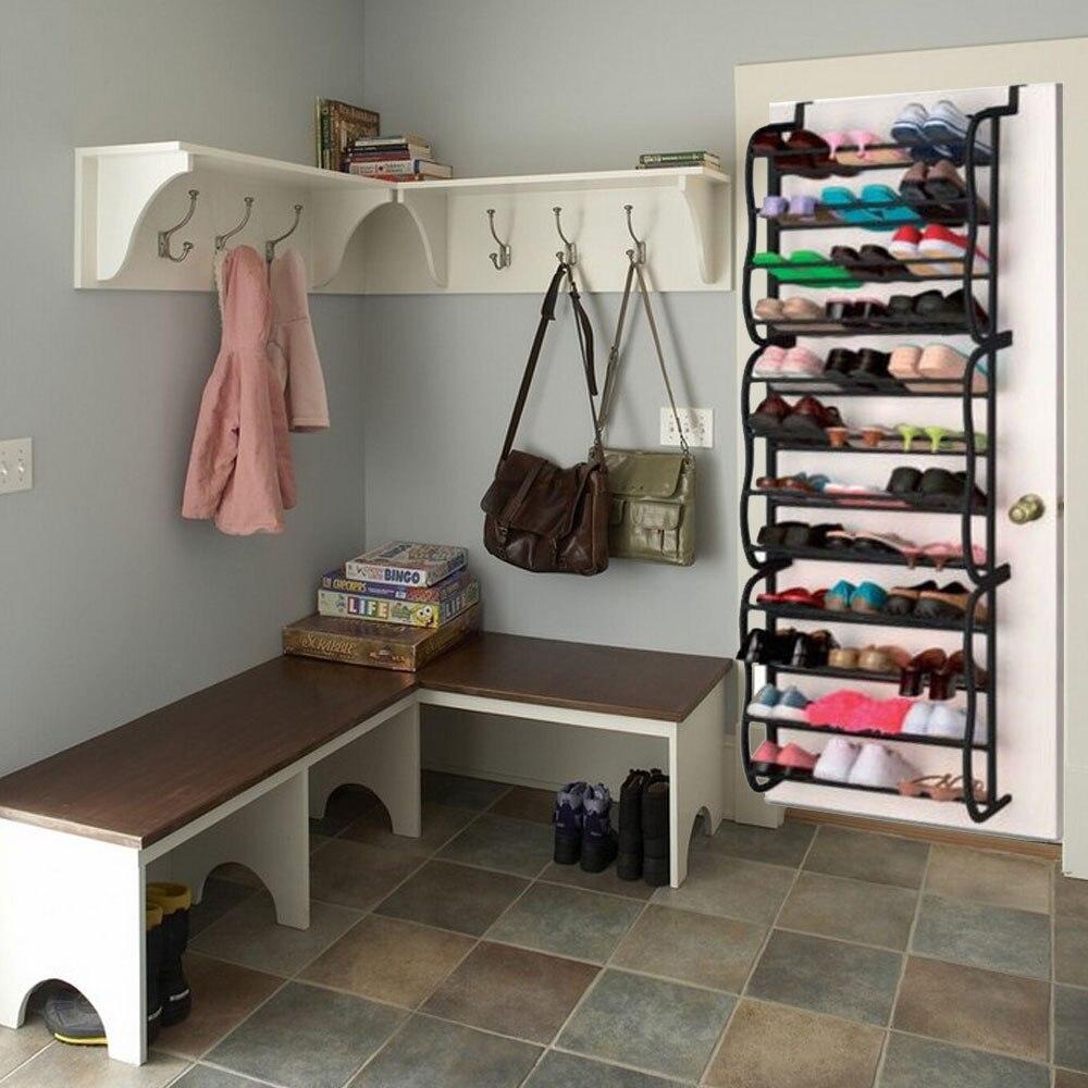 Merveilleux 36 Pair 12 Tier Over Door Hanging Shoe Shelf Rack Holder Living Room  Convenient Shoebox Storage Organiser Home Furniture DIY In Shoe Cabinets  From Furniture ...