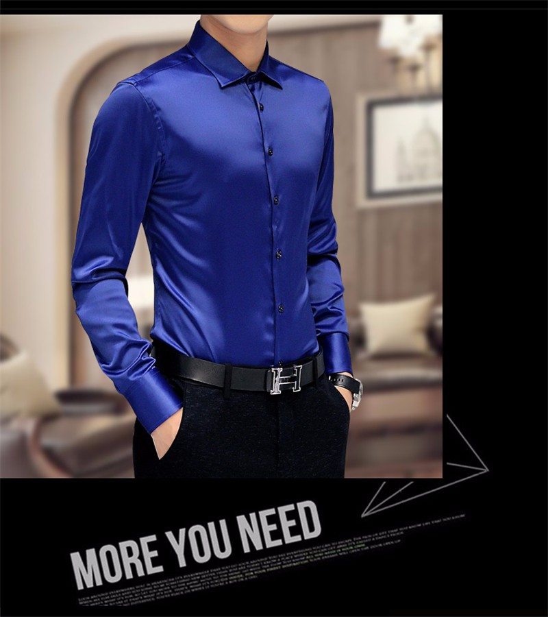 HTB1kys0NXXXXXXzapXXq6xXFXXXP - Plus Size 5XL New Men's Luxury Shirts Wedding Dress Long Sleeve Shirt Silk Tuxedo Shirt Men Mercerized Cotton Shirt